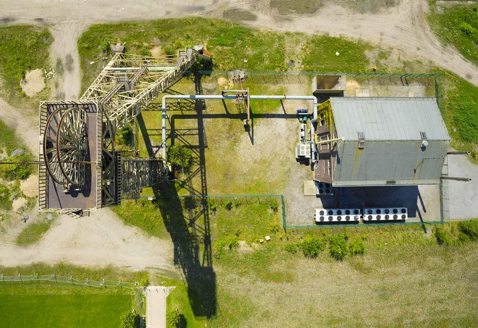 heysky Drohnen-Fotografie Dachinspektion mit Drohnen Drohen Inspektion altes Bergwerk