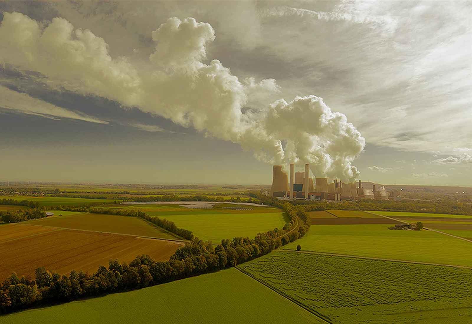 heysky Drohnenfotografie erstellen lassen Braunkohle Kraftwerk